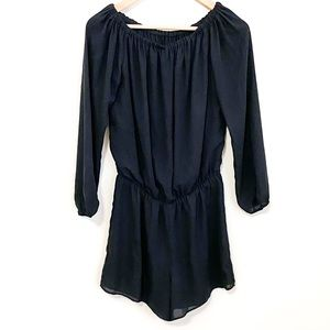 Three Eighty Two Black Off The Shoulder Romper